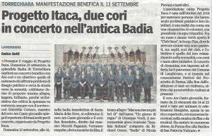 Torrechiara, Concerto benefico per Progetto Itaca Parma